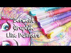 Derwent Line Painters -Review Marker Art, Paint Pens, Art Supplies, New Art, Line, Markers, Painting, Sharpies, Fishing Line