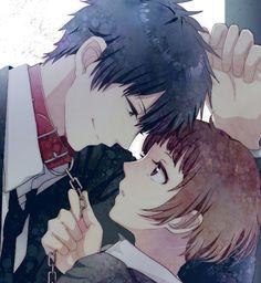 Kogami and Akane his smile says a thousand words