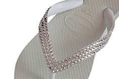 How to Crystallize Havaianas Tutorial - Deco Princess Test   Crystal and Glass Beads