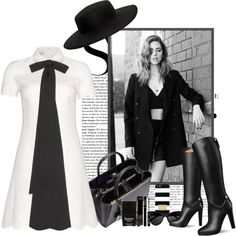 B&W by rachel on Polyvore featuring polyvore, fashion, style, Valentino, Fendi, VIVETTA, MICHAEL Michael Kors, The Row, Lancôme and Butter London