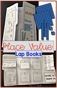 These lap books are perfect to enable students to display their understanding of place value and show where they might see examples of larger numbers in the world. #placevalue #placevalueactivities #math #firstgrademath #secondgrademath