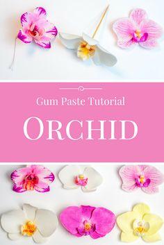 Gumpaste orchid - phaleanopsis tutorial - moth orchid tutorial - orchid tutorial / Anleitung Orchidee