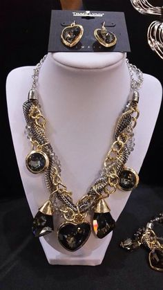 Be A Socialite in Socialite Necklace, Earrings, Bracelet by Traci Lynn Bling Jewelry, Jewelery, Diamond Jewelry, Traci Lynn Fashion Jewelry, Purple Diamond, Neck Piece, Gold Platinum, Necklace Set, Jewelry Design