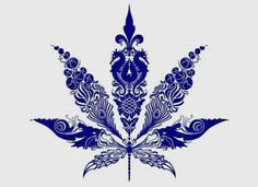 Marijuana leaf tattoo design