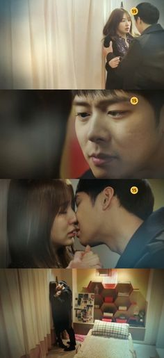 The kiss scene between Park Yoo Chun and Yoon Eun Hye from the preview of episode 13 of 'I Miss You'