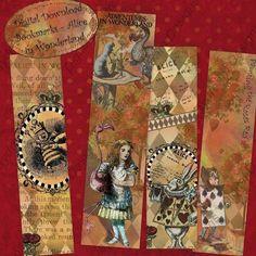 Printable  Bookmarks Alice in Wonderland by MyDigitalDaydream, $3.50