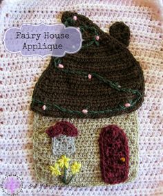Fairy house applique (pattern) on Knot Your Nana's Crochet