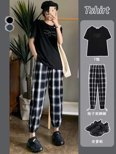 Edgy Outfits, Teen Fashion Outfits, Korean Outfits, Cute Casual Outfits, Simple Outfits, Egirl Fashion, Ulzzang Fashion, Tomboy Fashion, Korean Fashion