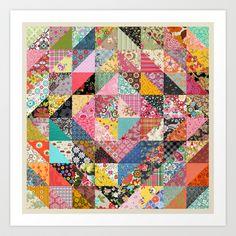 Grandma's Quilt Art Print by Rachel Caldwell - $19.00