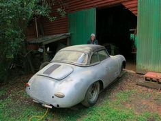 1958 Porsche 356A Cabriolet Barn Find Project Indain Chief Christophorus Rear