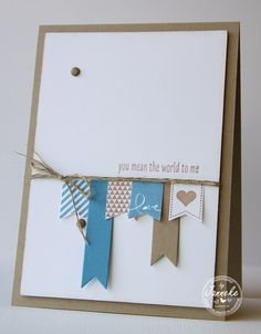 It's so simple but beautiful. Janneke, Stampin' Up! Demonstrator : You mean the world te me
