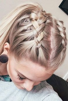Two Braided Ponytails #braidedhairstyles #longhairstyles ★ Discover trendy easy summer hairstyles 2019 here. We have pretty ideas for long, short, and for medium hair. #glaminati #lifestyle #summerhairstyles