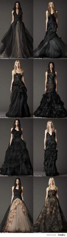 black Vera Wang gowns