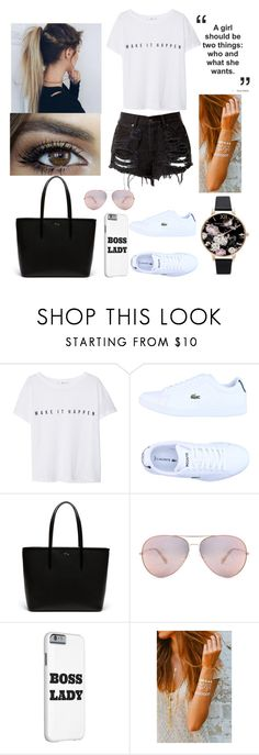 """#34"" by mariangela06 ❤ liked on Polyvore featuring Capelli New York, MANGO, Lacoste and Olivia Burton"