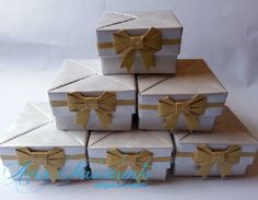 Detalhe das caixinhas para bem casado, docinhos ou lembrancinhas!!