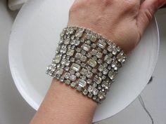 Kramer of New York rhinestone bracelet authentic by 2007musarra, $399.00