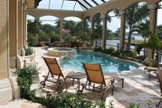 An enclosed pool=>my dream. Low maintenance, safety, and temperature control. [cmk]