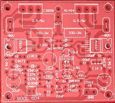 500W-2000W Power Amplifier SOCL 504 - Electronic Circuit