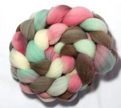 Handpainted Roving  Ice Cream  Falkland wool 4 by LittleLibellule