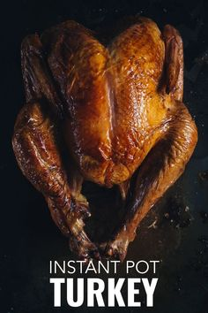 With this Instant Pot turkey recipe it is possible to cook a whole turkey with crispy skin. #ChristmasDinner #TurkeyDinner #PressureCooker #InstantPot