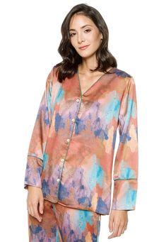ADRIANA FOREST SHIRT Long Sleeve Shirts, Tunic Tops, V Neck, Model, Color, Collection, Fashion, Moda