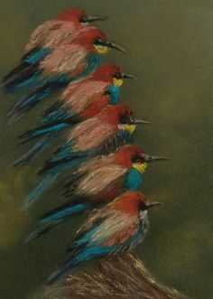 Two Bee or not two Bee-eaters... by Shelagh Fairbank Visit South Africa, Bird Paintings, Bee Eater, Bird Drawings, Beautiful Birds, Painting & Drawing, Good Times, Paintings Of Birds, Bird Pictures
