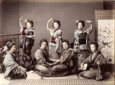 Kusakabe Kimbea, Dancing Party, 1880s by Gatochy, via Flickr