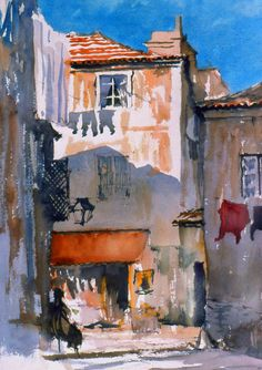 Portugese Alley Watercolor