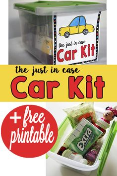 """Make your own """"just in case car kit"""" with this tutorial and free printable! Check out what we added to our car kit! #GIVEEXTRAGETEXTRA #Walgreens #ad"""