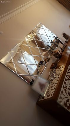 Decoration with Mirror, Decorative Mirrors, Mirrored Furniture - 6 - - Living Room Decor Cozy, Living Room Mirrors, Dining Room Walls, Room Wall Decor, Dining Room Design, Glass Partition Designs, Mirror Decal, Mirrored Furniture, Home Decor Inspiration