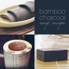 Bamboo Charcoal Soap-Charcoal powder absorbs toxins, impurities and excess oil by penetrating deep into the pores. It will gently exfoliate your skin without leaving any residues behind, and its anti-bacterial and anti-fungal properties make it ideal for Handmade Soap Recipes, Handmade Soaps, Diy Soaps, Charcoal Soap, Activated Charcoal, Homemade Face Masks, Cold Process Soap, Homemade Beauty, Diy Beauty