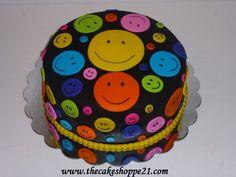happy faces cake