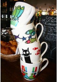 mugs marine-b pour boire le thé pour la cuisine design et couleurs