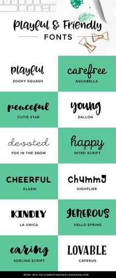 12 of my favourite playful and friendly fonts that will help make your invitations, logos, posters and advertisements a whole lot more friendly, charming and approachable. These high-quality fonts will make your projects look even more professional and special. Click here to get the download links.