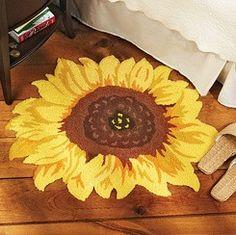 Shaped Sunflower Rug