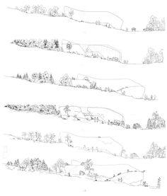 Zespół domów w układzie pasmowo-szeregowym. Projekt: Karolina Chodura, WA Politechniki Śląskiej House Architecture, Sheet Music, Home Architecture, Music Sheets