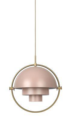 Multi-Light Pendant in Brass / Rose Dust by Louis Weisdorf   DSHOP