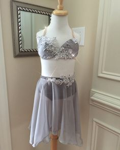 2 Piece Custom Lyrical Costume Grey with by nobaggedcostumes