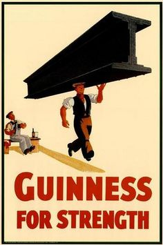 It's not worth telling you that Guinness is an Irish beer. I think it is the most representative Irish prod. Beer Advertisement, Vintage Advertising Posters, Vintage Advertisements, Vintage Ads, Vintage Posters, Food Advertising, Retro Posters, Guinness, Funny Commercials