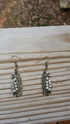 Hey, I found this really awesome Etsy listing at https://www.etsy.com/listing/181361915/jeweled-antique-style-leaf-earrings