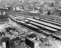 Eine Ansicht aus dem Jahr 1959. Der Hauptbahnhof von der Rückseite gesehen | Quelle: Wilhelm Hauschild