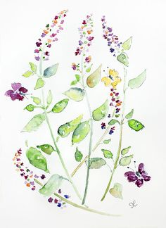 Watercolor flowers Original Watercolor by LightheartedDreamer, $42.00