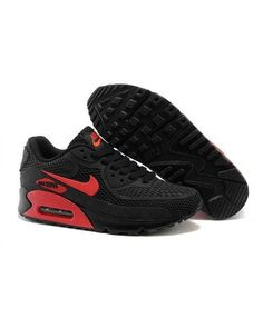 Nike Air Max 90 KPU Black Red Men'S Women'S Uk Sale Blue Sneakers, Air Max Sneakers, Sneakers Nike, Air Max 90, Nike Air Max, Shoes Uk, Sports Shoes, Leather Men, Couple