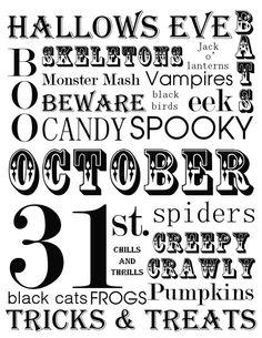 Great Ideas 17 Halloween Countdown Calendars And Halloween Printables
