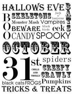 The Crafted Sparrow: Holloween Subway Art - FREE PRINTABLE