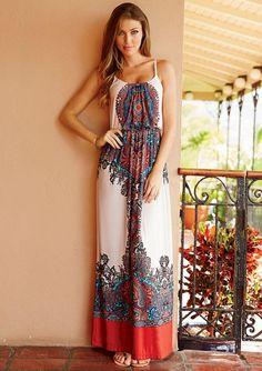 Thea Printed Maxi Dress