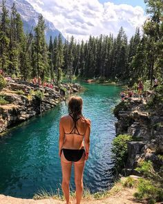 This KM Hike Near Calgary Leads You To A Hidden Turquoise Swimming Hole Alberta's Swimming Hole Hike Is A Refreshing Activity For Summer 2019 – Narcity Calgary, The Places Youll Go, Places To See, Alberta Travel, Road Trip Destinations, Summer Bucket Lists, Swimming Holes, Summer Activities, Indoor Activities
