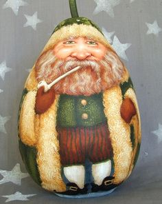 "GOURD:  ""Irish Santa,"" by Suzy Meelhuysen (Etsy.com)"