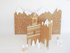 hello, Wonderful - MAKE AN EASY WINTER CARDBOARD CASTLE