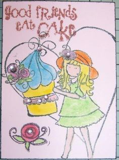 June's  ATC for the April 2013 Crafty Girls Challenge - BFF's - What does friendship mean to you?